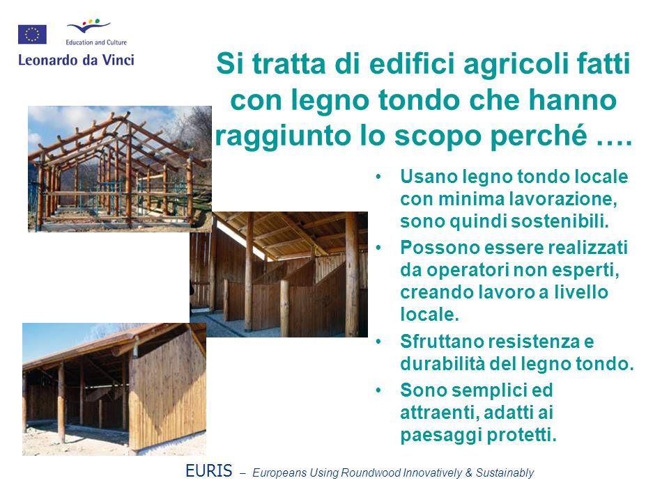 Si tratta di edifici agricoli fatti con legno tondo che hanno raggiunto lo scopo perché ….
