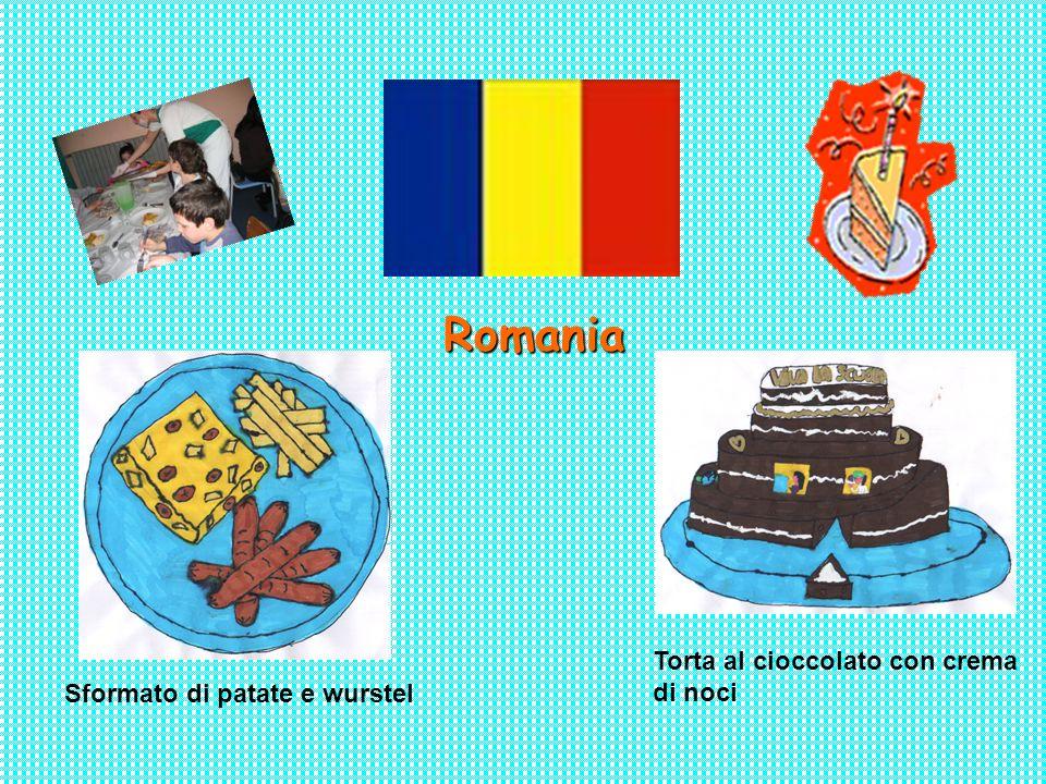 Romania Torta al cioccolato con crema di noci