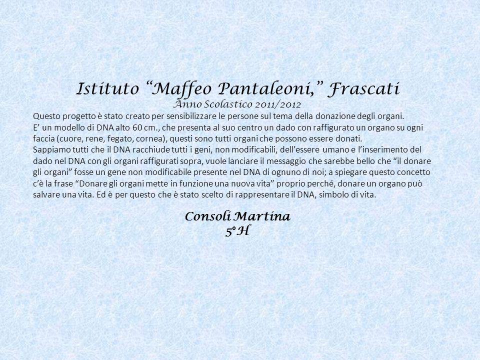 Istituto Maffeo Pantaleoni, Frascati