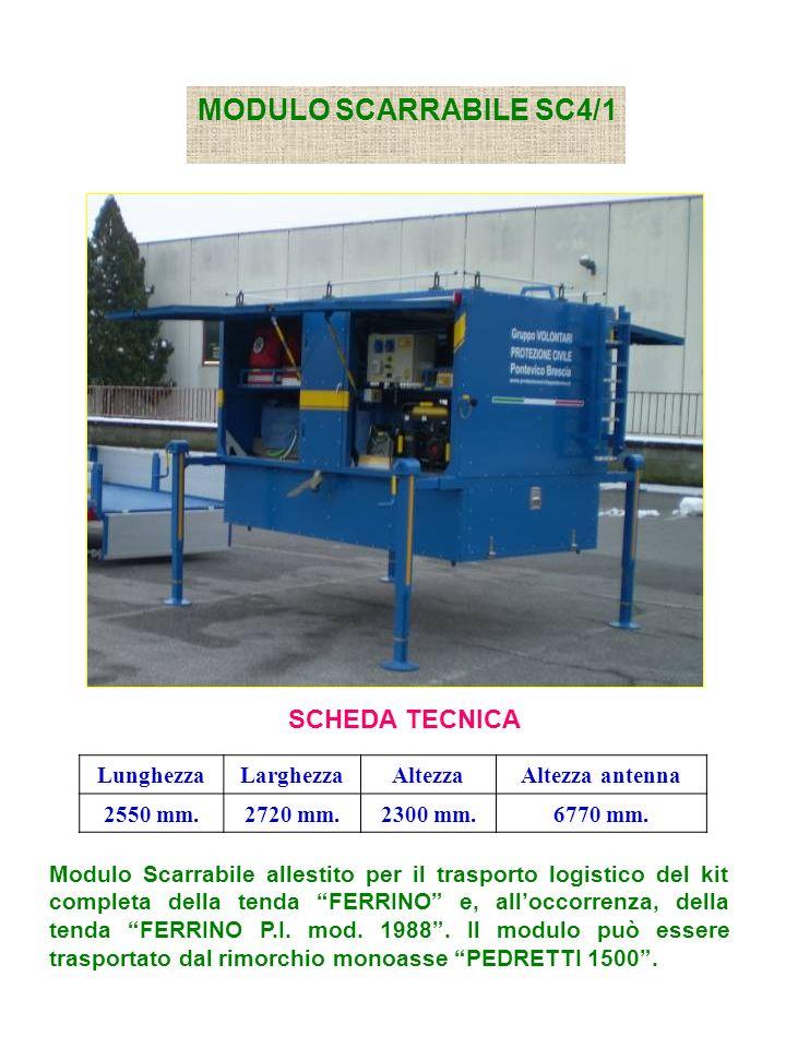 MODULO SCARRABILE SC4/1 SCHEDA TECNICA Lunghezza Larghezza Altezza