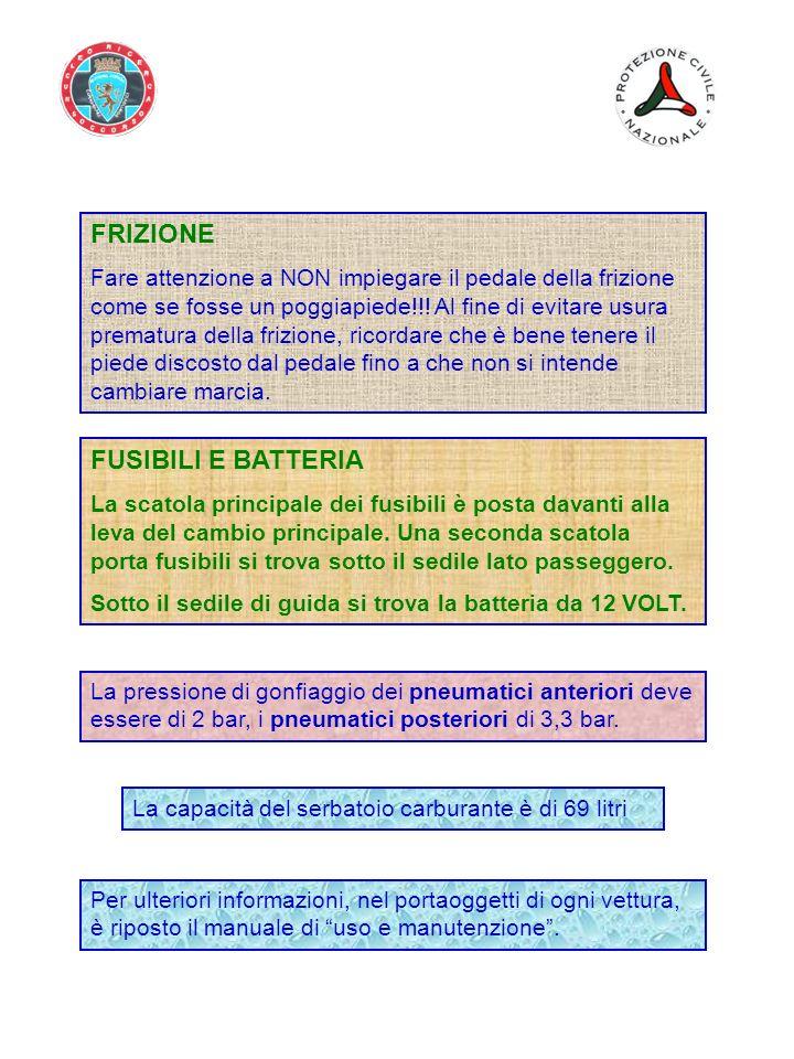 FRIZIONE FUSIBILI E BATTERIA