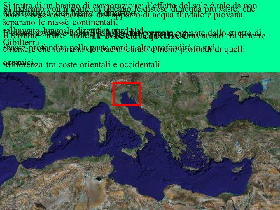 Il Mediterraneo Morfologia del Mare Adriatico :