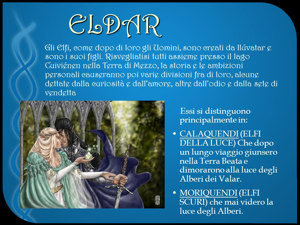 ELDAR Essi si distinguono principalmente in:
