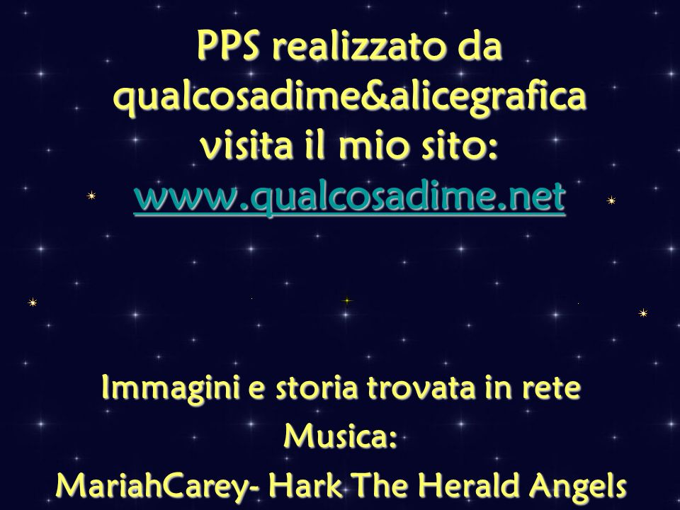 Immagini e storia trovata in rete MariahCarey- Hark The Herald Angels