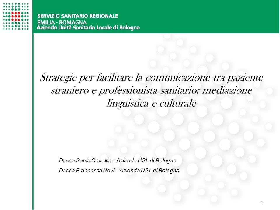 Strategie per facilitare la comunicazione tra paziente straniero e professionista sanitario: mediazione linguistica e culturale