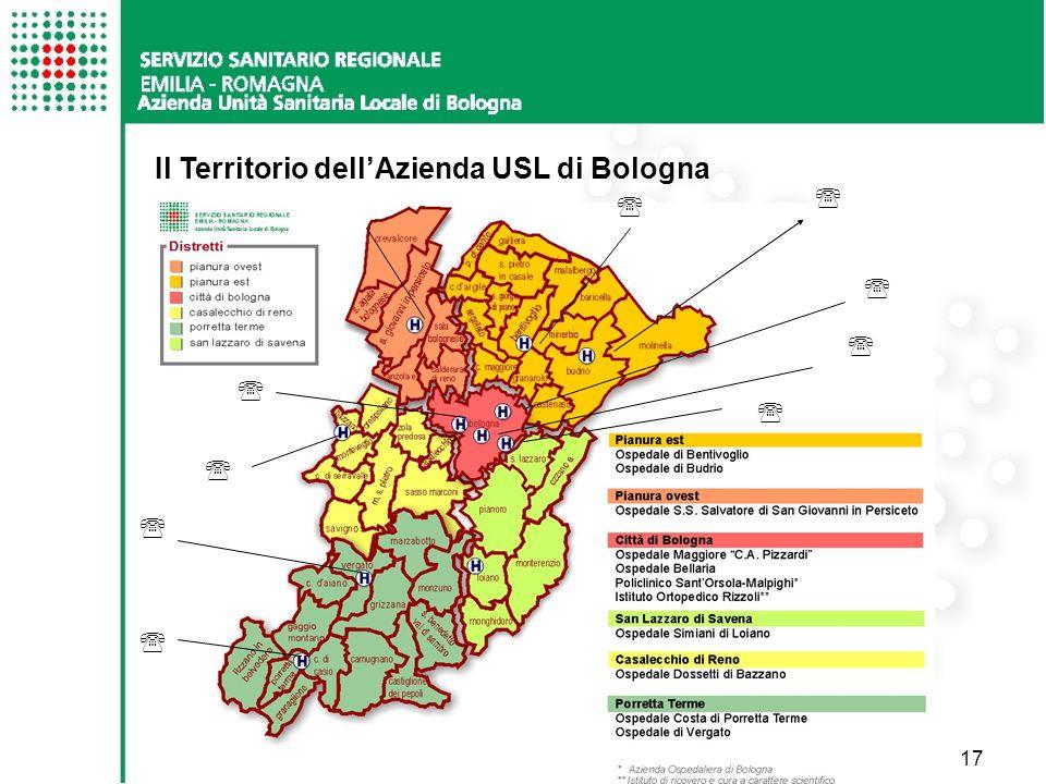 Il Territorio dell'Azienda USL di Bologna