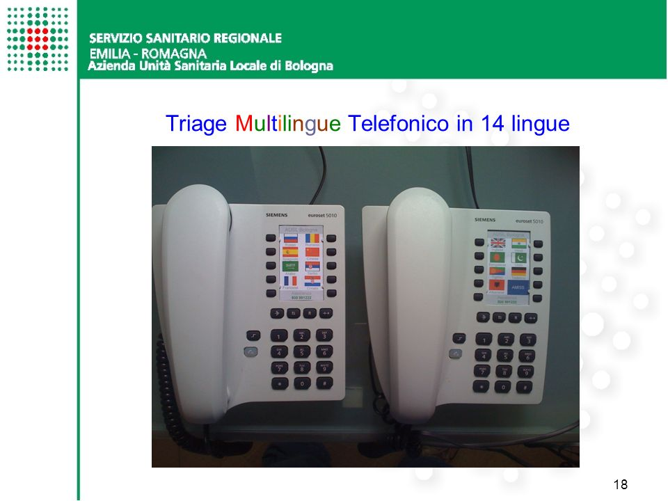 Triage Multilingue Telefonico in 14 lingue
