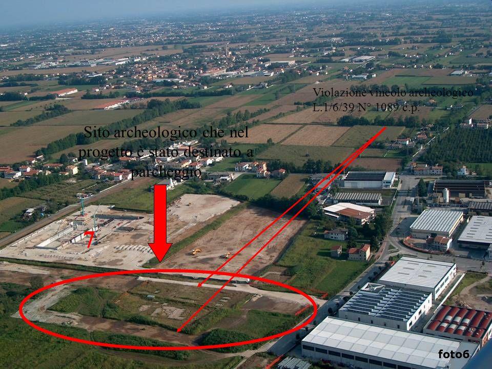 Sito archeologico che nel progetto è stato destinato a parcheggio