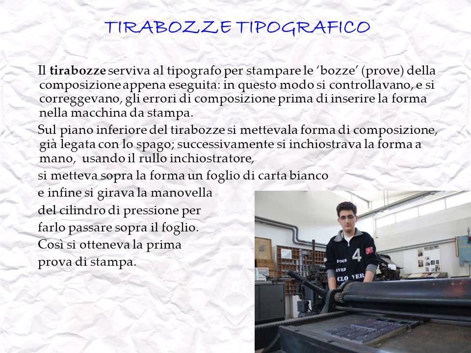 TIRABOZZE TIPOGRAFICO