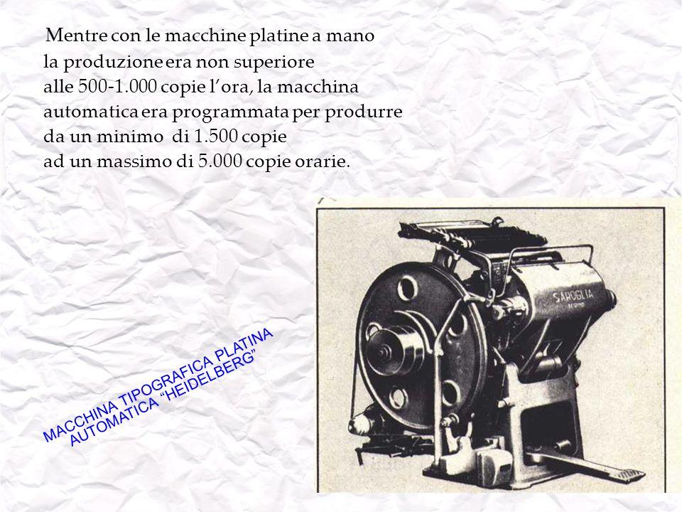 MACCHINA TIPOGRAFICA PLATINA AUTOMATICA HEIDELBERG