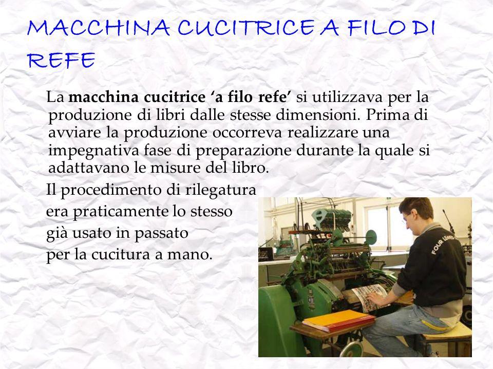 MACCHINA CUCITRICE A FILO DI REFE