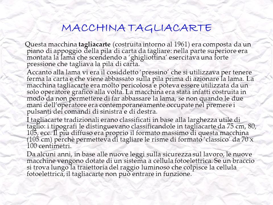 MACCHINA TAGLIACARTE