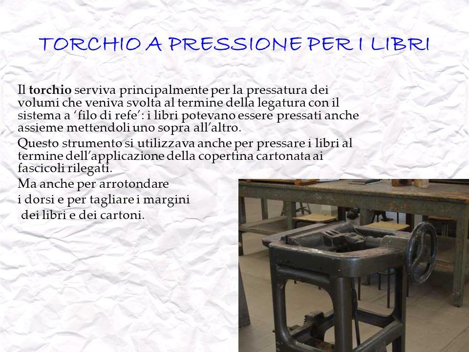 TORCHIO A PRESSIONE PER I LIBRI