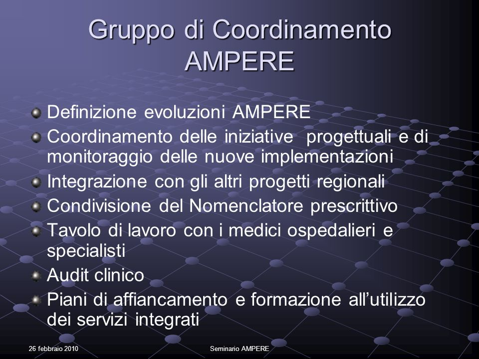 Gruppo di Coordinamento AMPERE