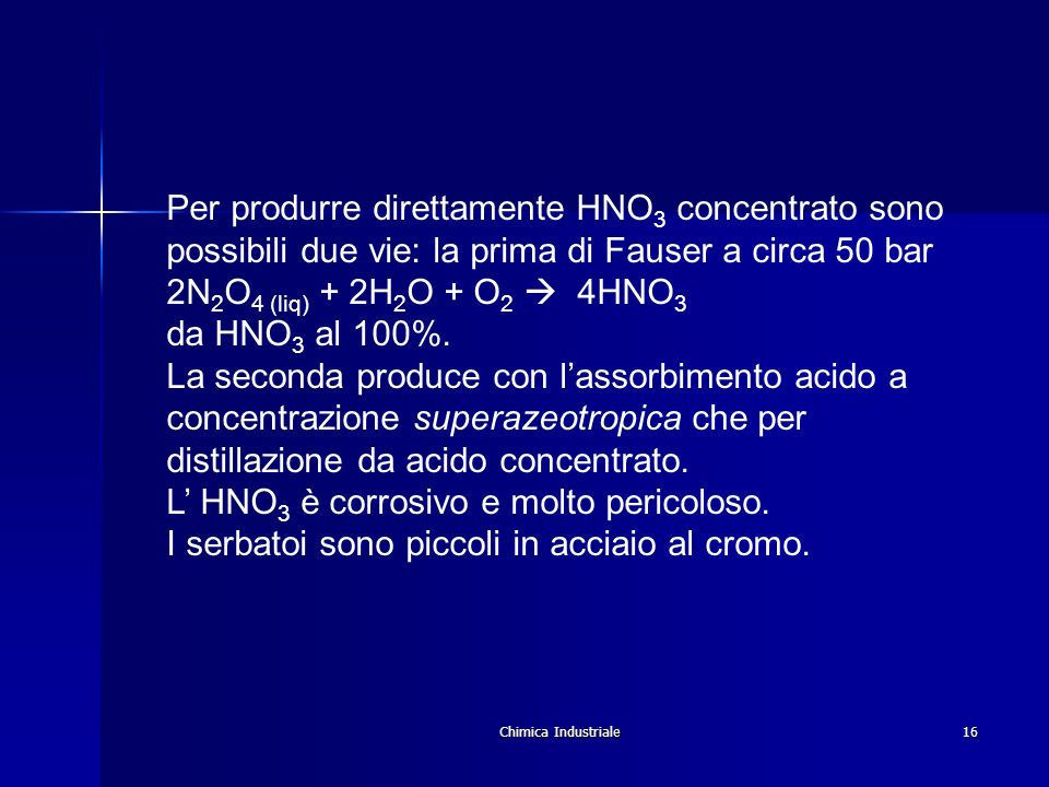 L' HNO3 è corrosivo e molto pericoloso.