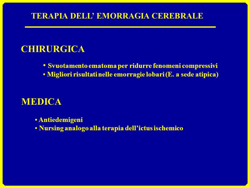 CHIRURGICA MEDICA TERAPIA DELL' EMORRAGIA CEREBRALE