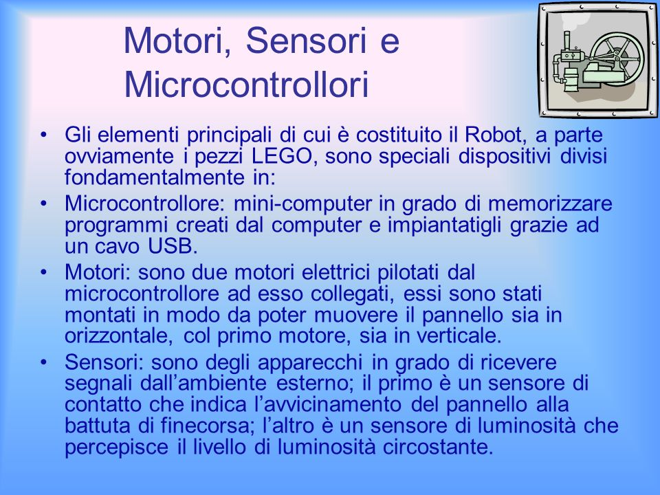 Motori, Sensori e Microcontrollori