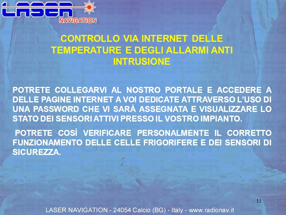 CONTROLLO VIA INTERNET DELLE TEMPERATURE E DEGLI ALLARMI ANTI INTRUSIONE