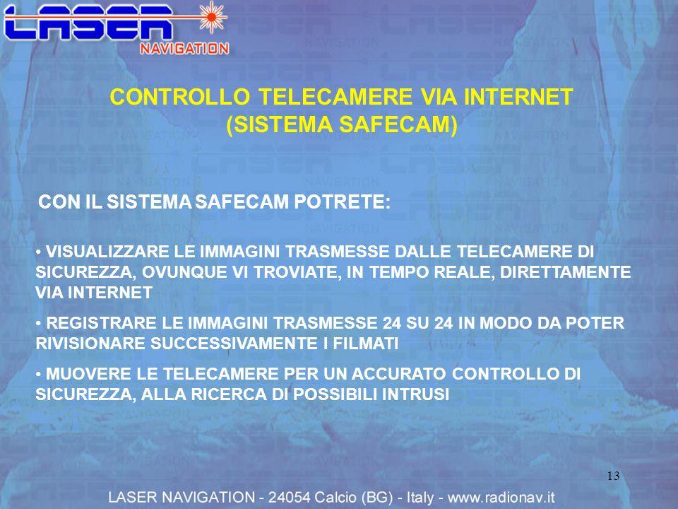 CONTROLLO TELECAMERE VIA INTERNET (SISTEMA SAFECAM)