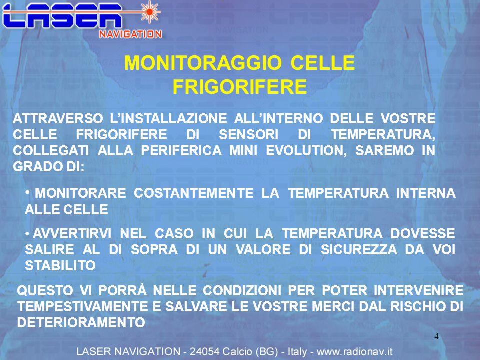 MONITORAGGIO CELLE FRIGORIFERE