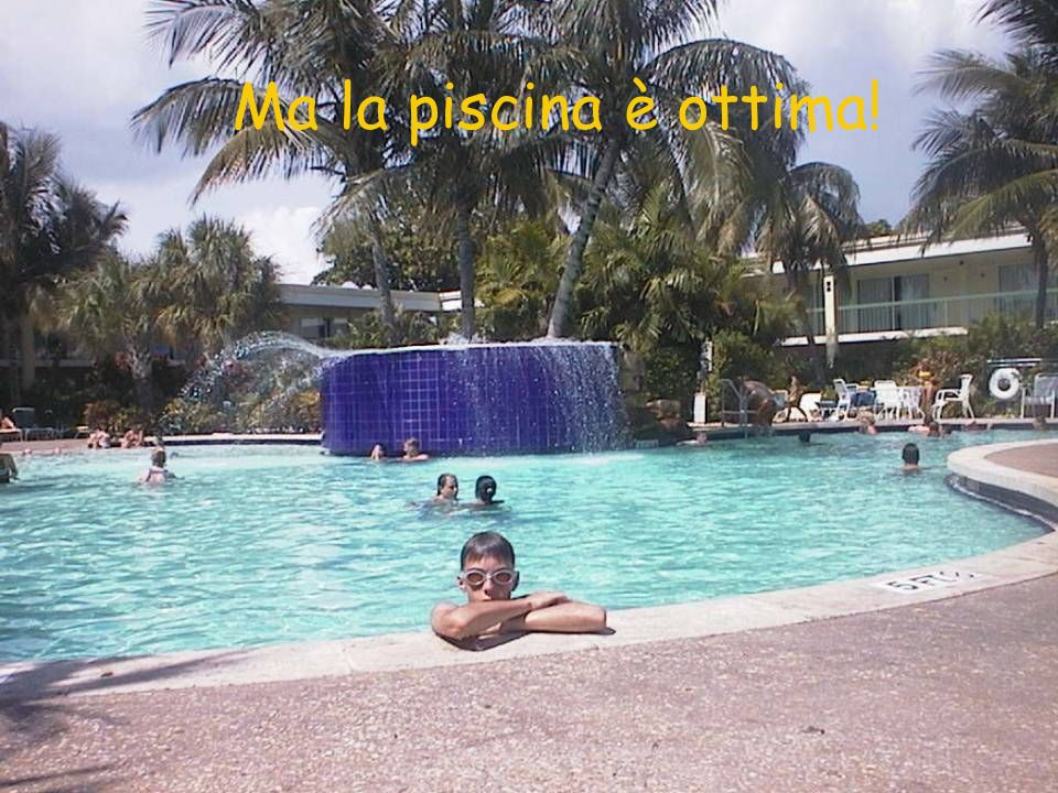 Ma la piscina è ottima!