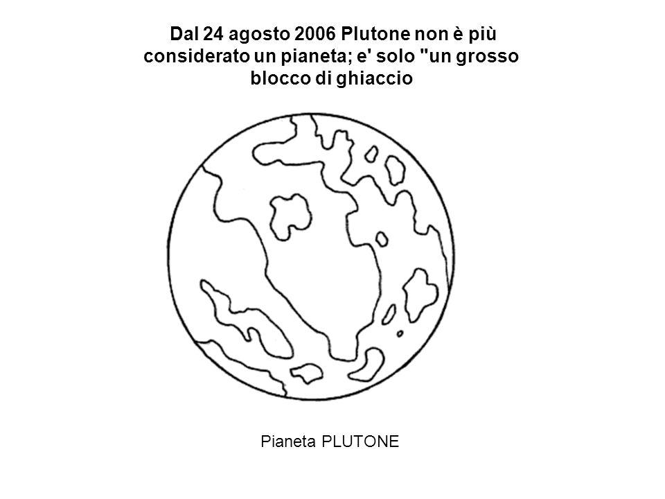 Dal 24 agosto 2006 Plutone non è più considerato un pianeta; e solo un grosso blocco di ghiaccio