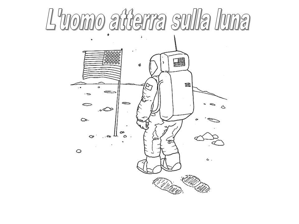 L uomo atterra sulla luna