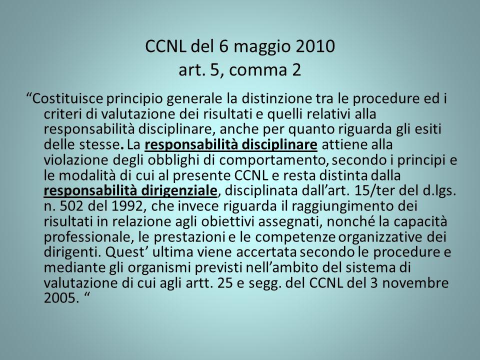 CCNL del 6 maggio 2010 art. 5, comma 2