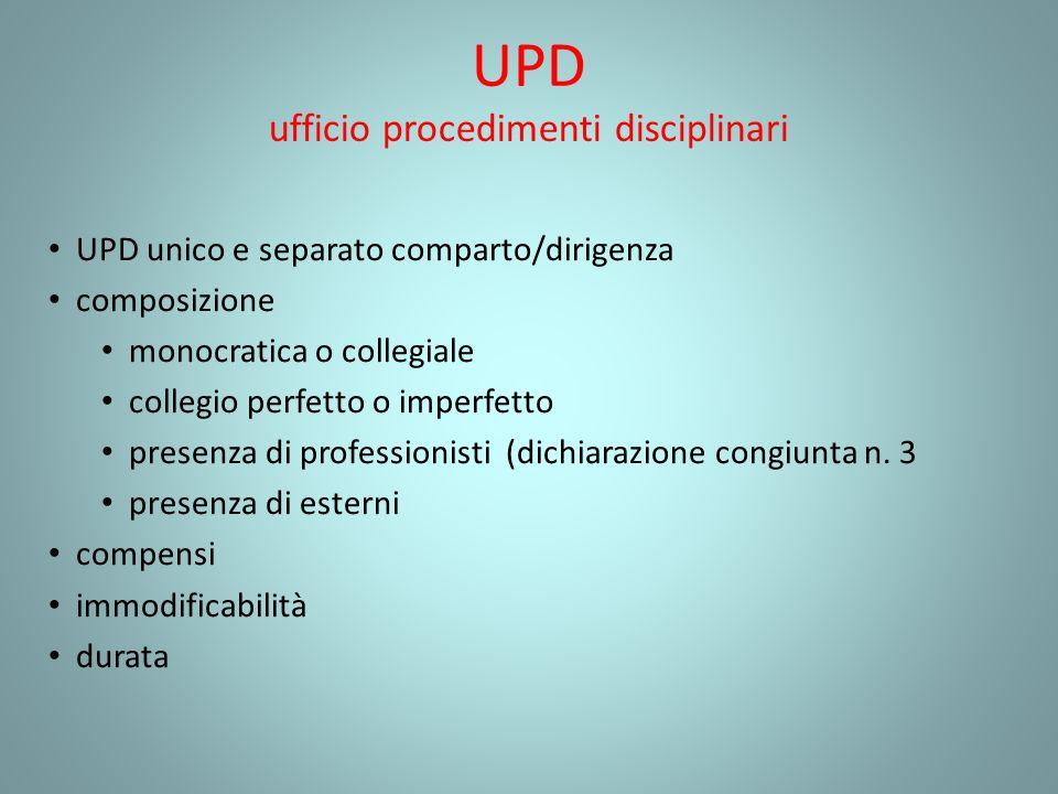 UPD ufficio procedimenti disciplinari