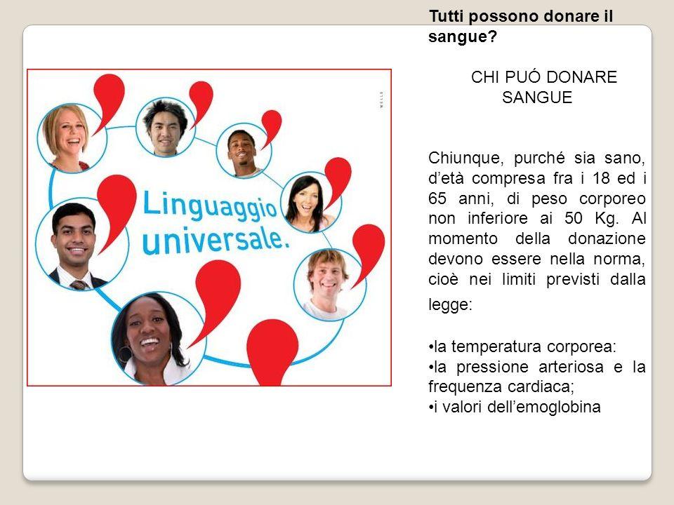 Tutti possono donare il sangue