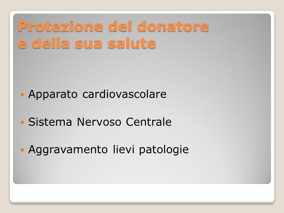 Protezione del donatore e della sua salute