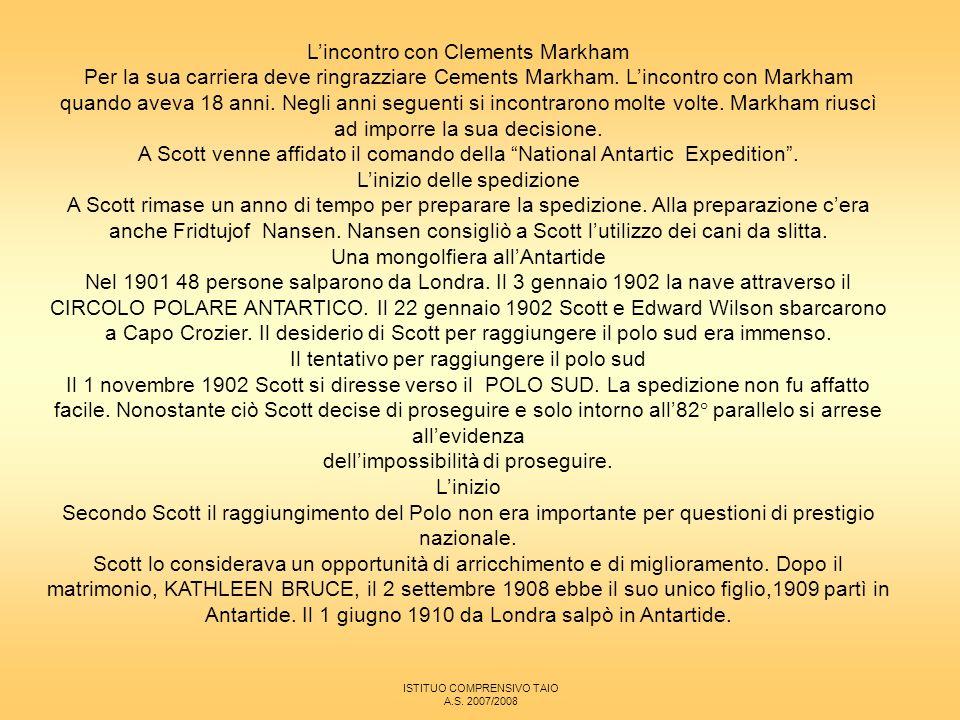 L'incontro con Clements Markham