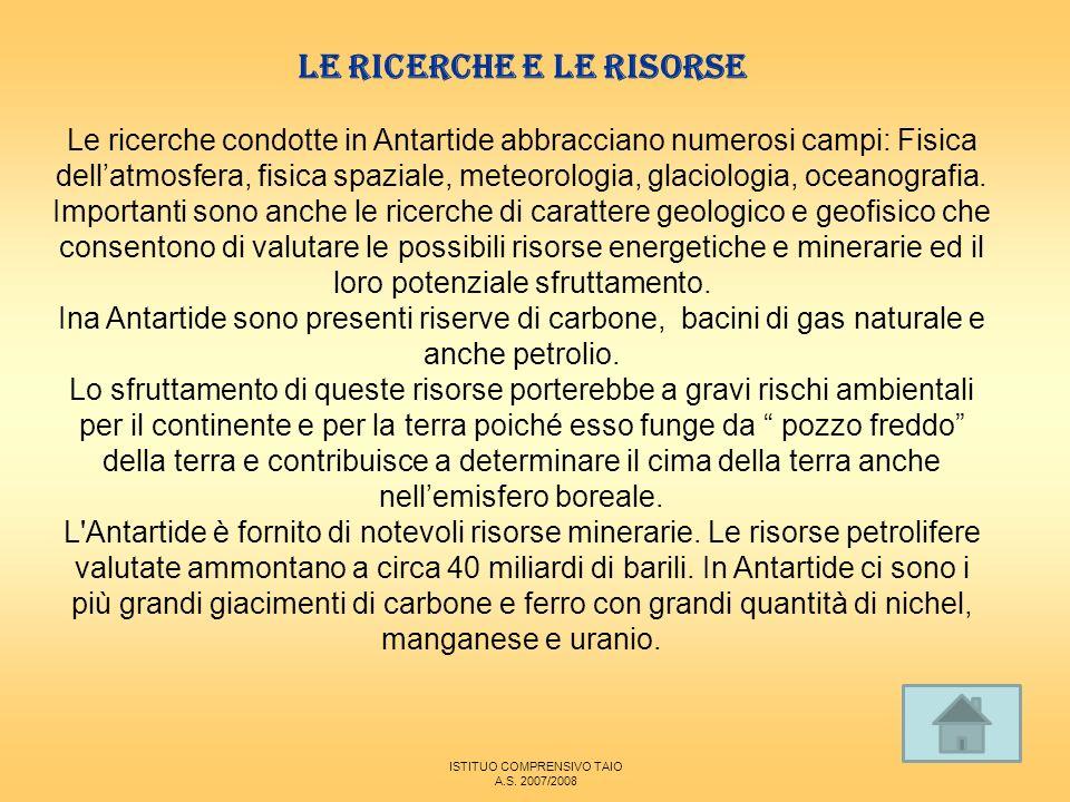 LE RICERCHE E LE RISORSE