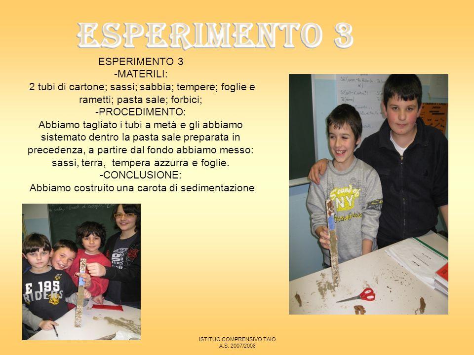 ESPERIMENTO 3 ESPERIMENTO 3 -MATERILI: