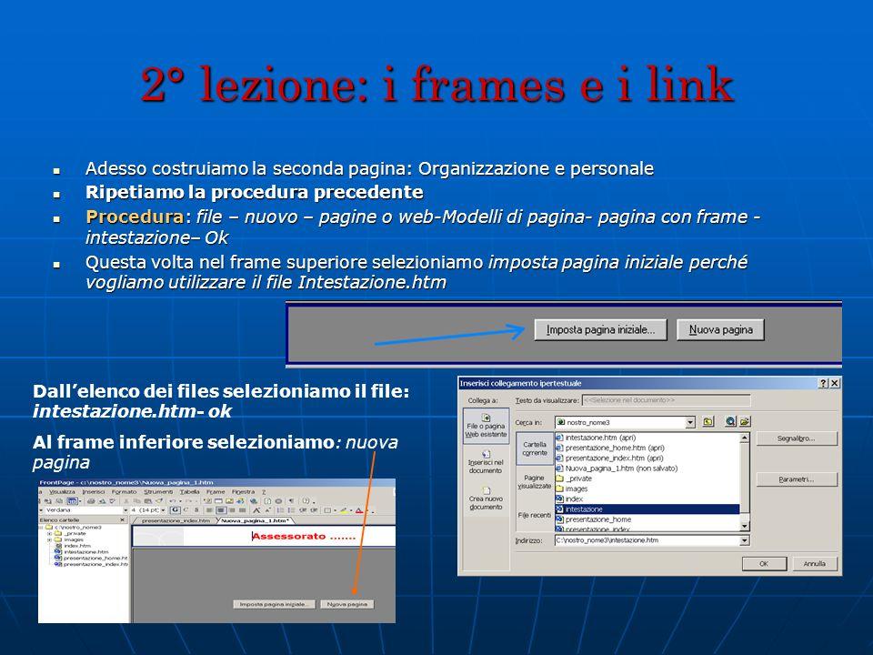 2° lezione: i frames e i link