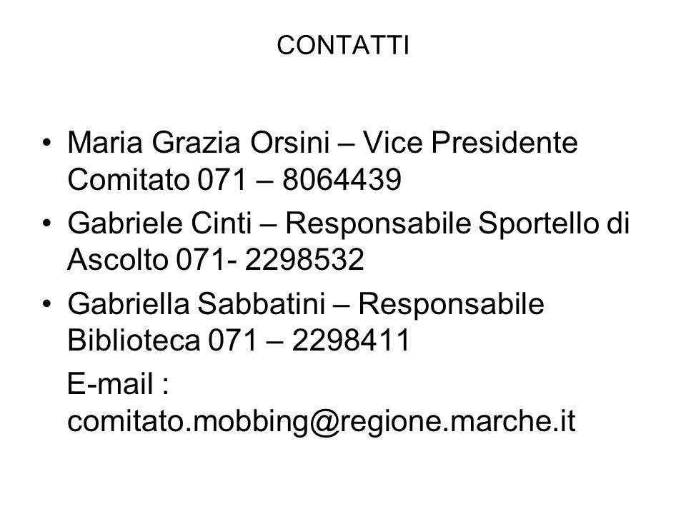 Maria Grazia Orsini – Vice Presidente Comitato 071 – 8064439
