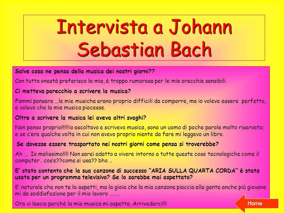 Intervista a Johann Sebastian Bach