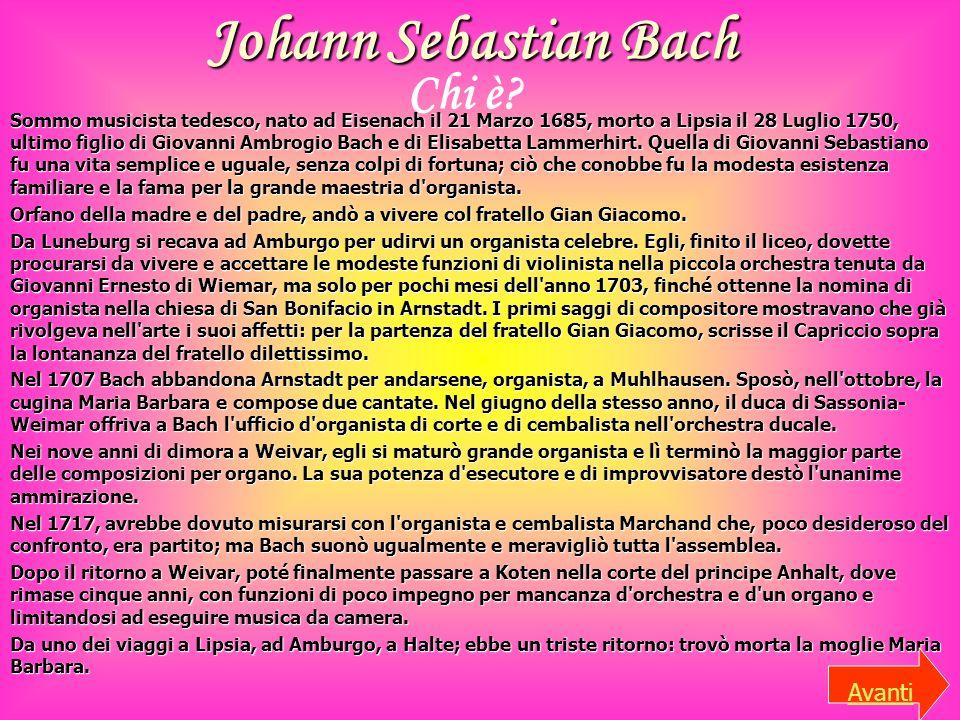Johann Sebastian Bach Chi è Avanti