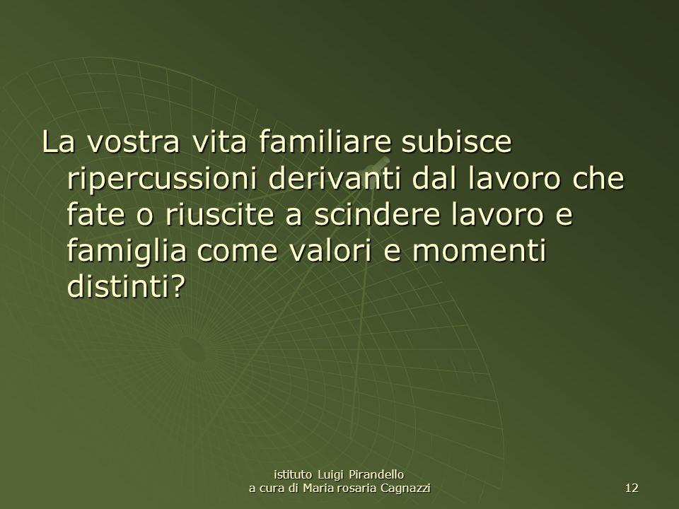 istituto Luigi Pirandello a cura di Maria rosaria Cagnazzi