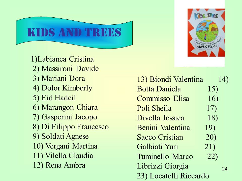 KIDS AND TREES