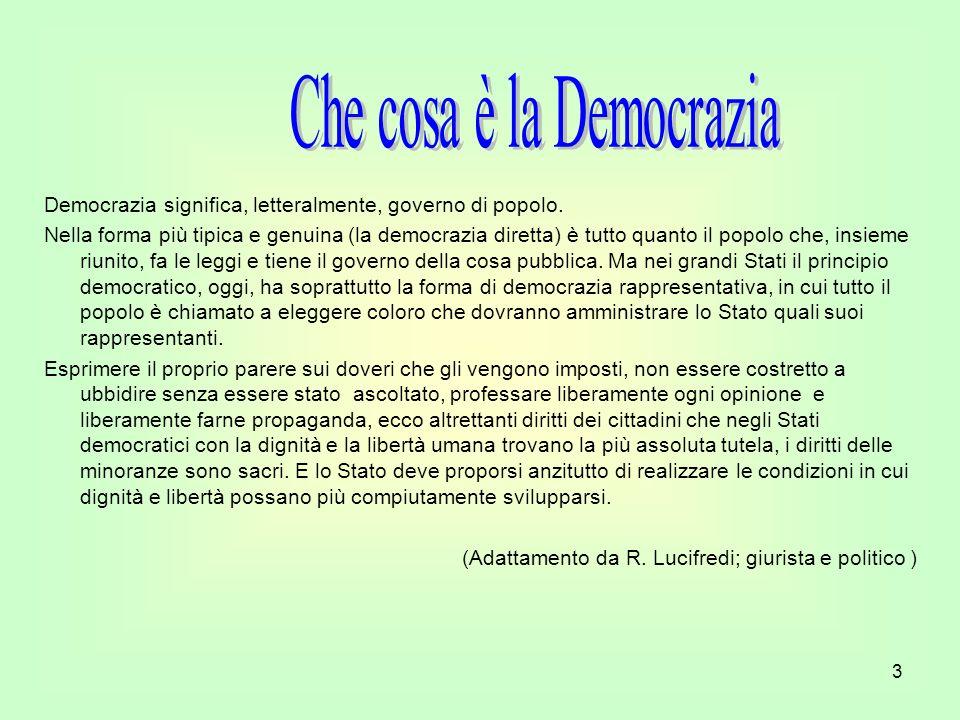 Che cosa è la Democrazia