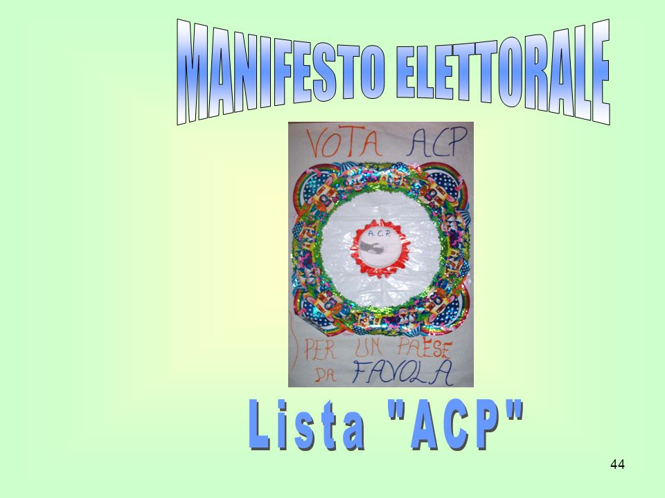 MANIFESTO ELETTORALE Lista ACP