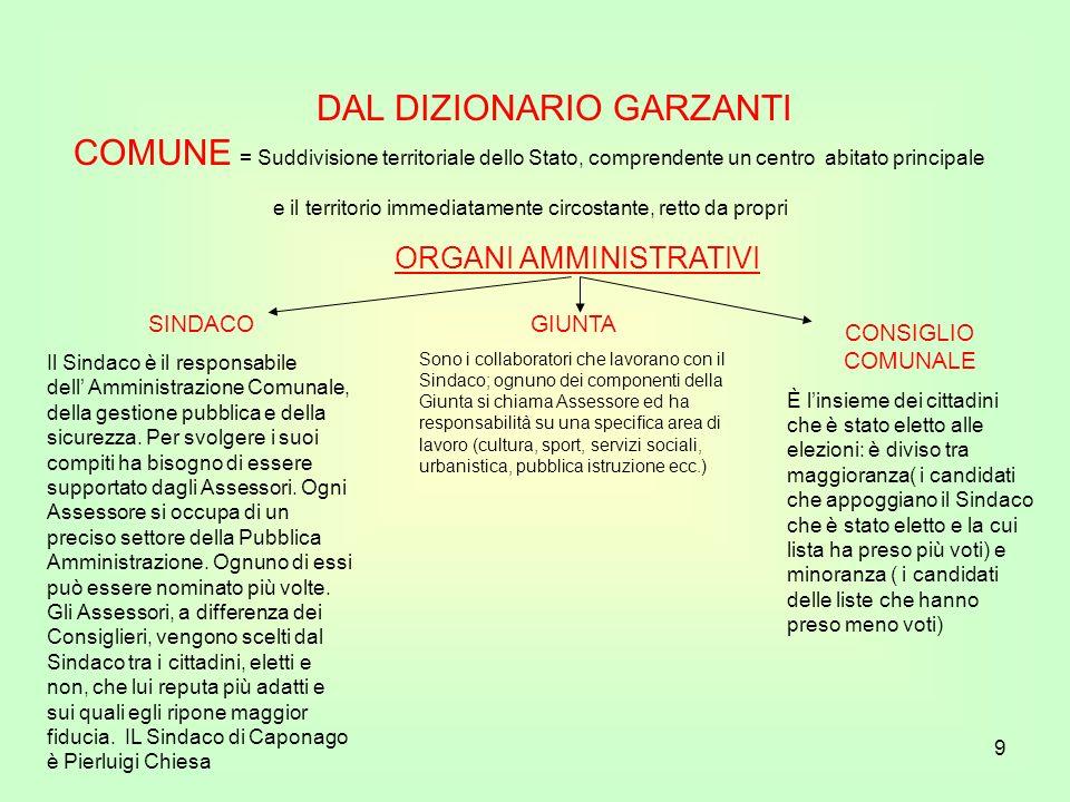 DAL DIZIONARIO GARZANTI