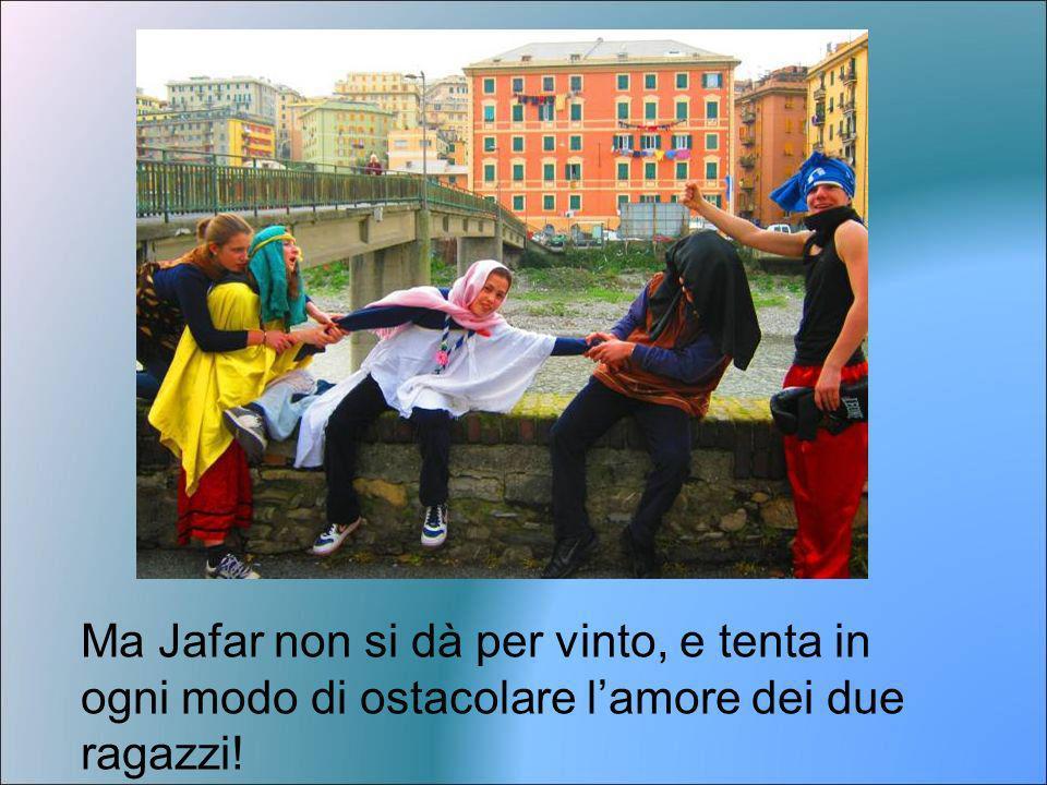 Ma Jafar non si dà per vinto, e tenta in ogni modo di ostacolare l'amore dei due ragazzi!
