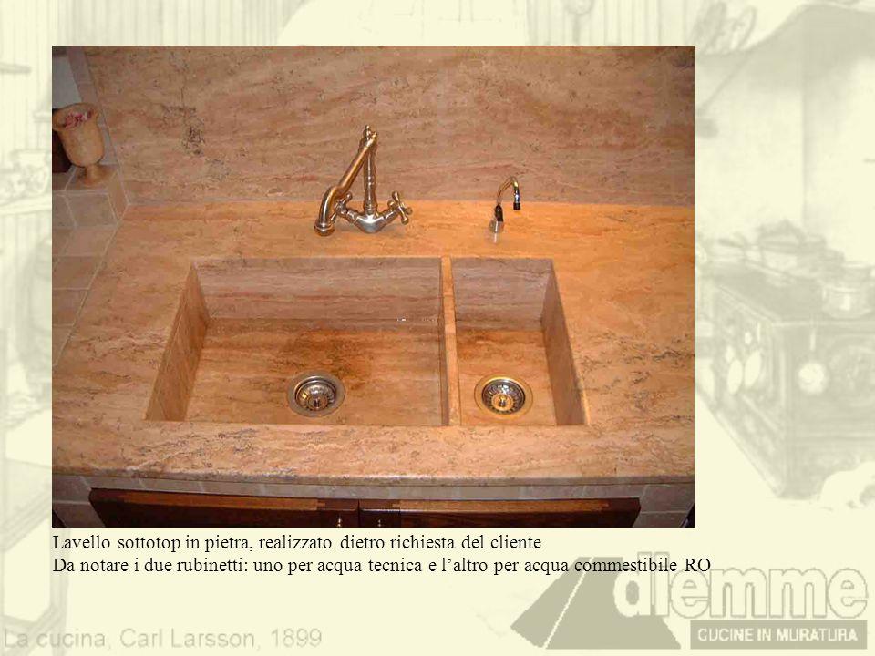 Lavello sottotop in pietra, realizzato dietro richiesta del cliente
