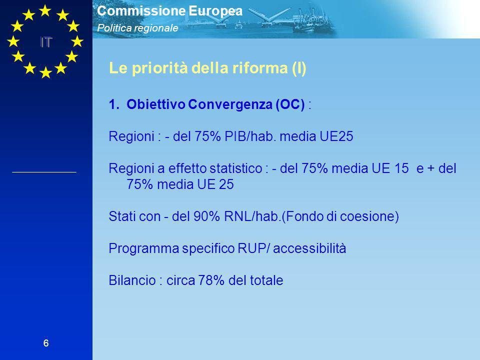 Le priorità della riforma (I)