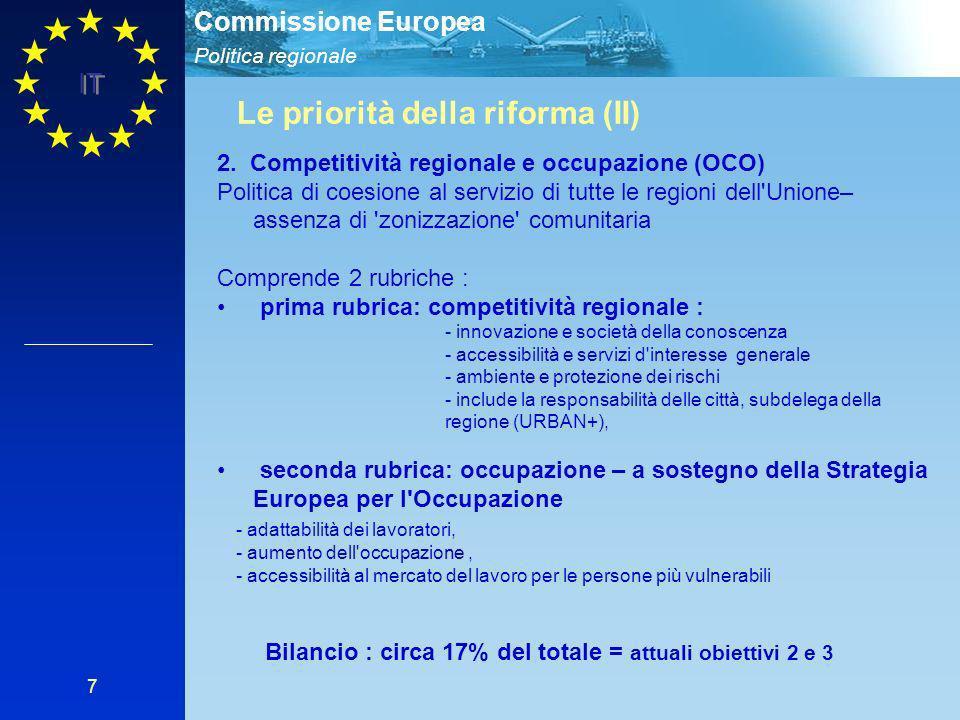 Le priorità della riforma (II)