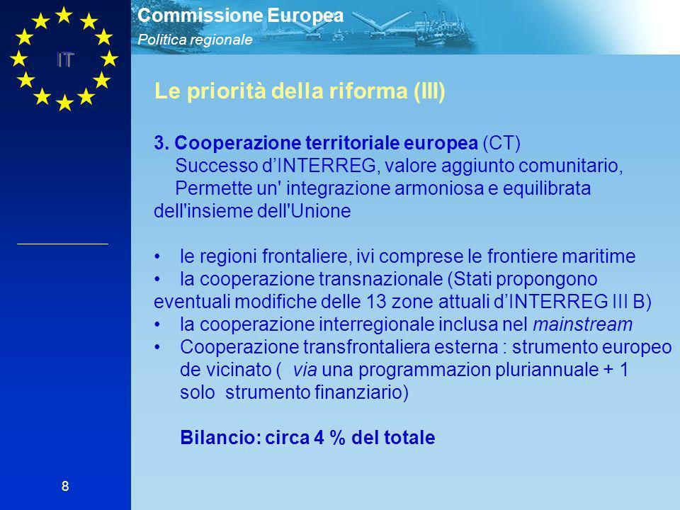 Le priorità della riforma (III)