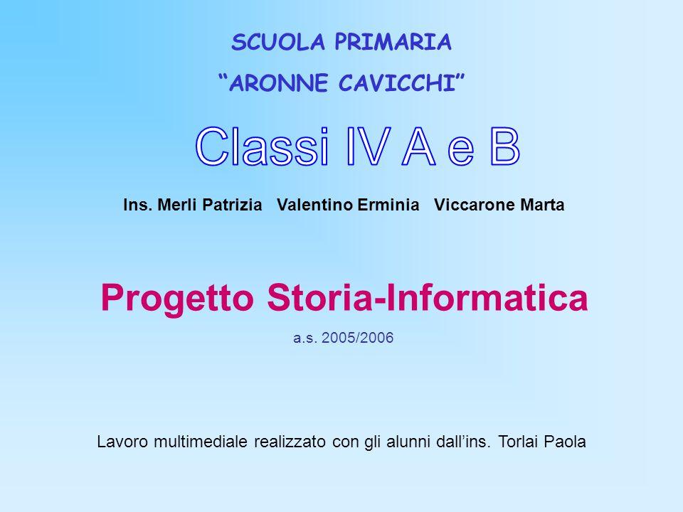 Classi IV A e B Progetto Storia-Informatica SCUOLA PRIMARIA