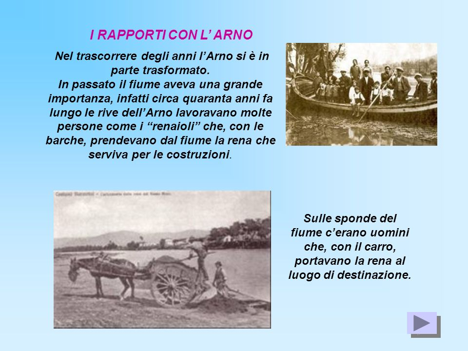 Nel trascorrere degli anni l'Arno si è in parte trasformato.